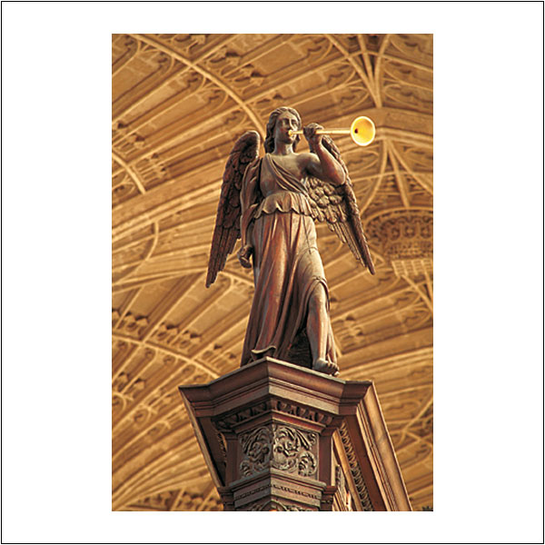 CP0168 King's College Chapel Wooden Angel