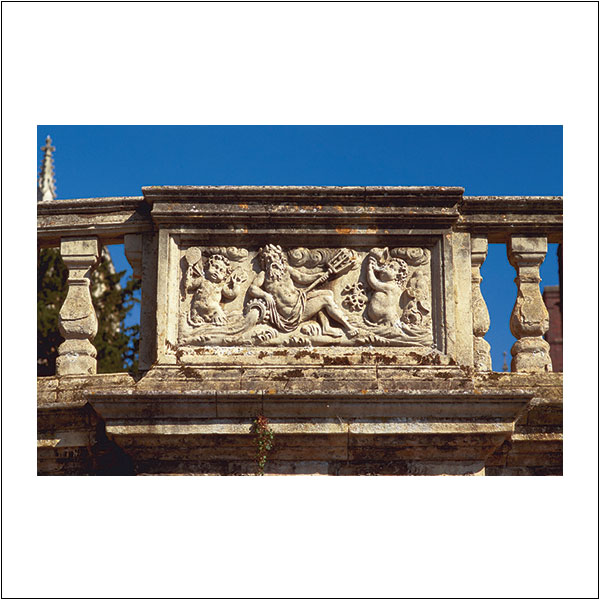 CP0243 Sculpture Neptune Detail Wren Bridge St John's College