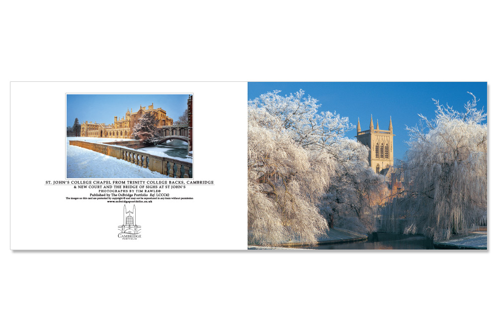 Cambridge Customised Christmas Cards | The Oxbridge Portfolio
