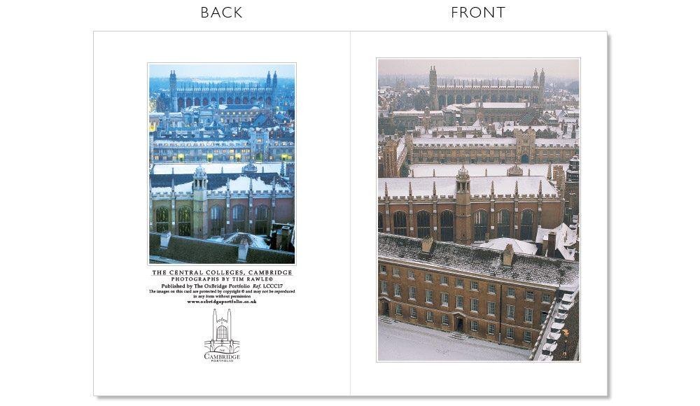 LCCC17 Cambridge Christmas Cards | The Oxbridge Portfolio