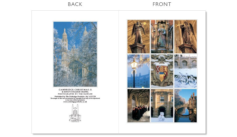 LCCC23 Cambridge Christmas Cards | The Oxbridge Portfolio