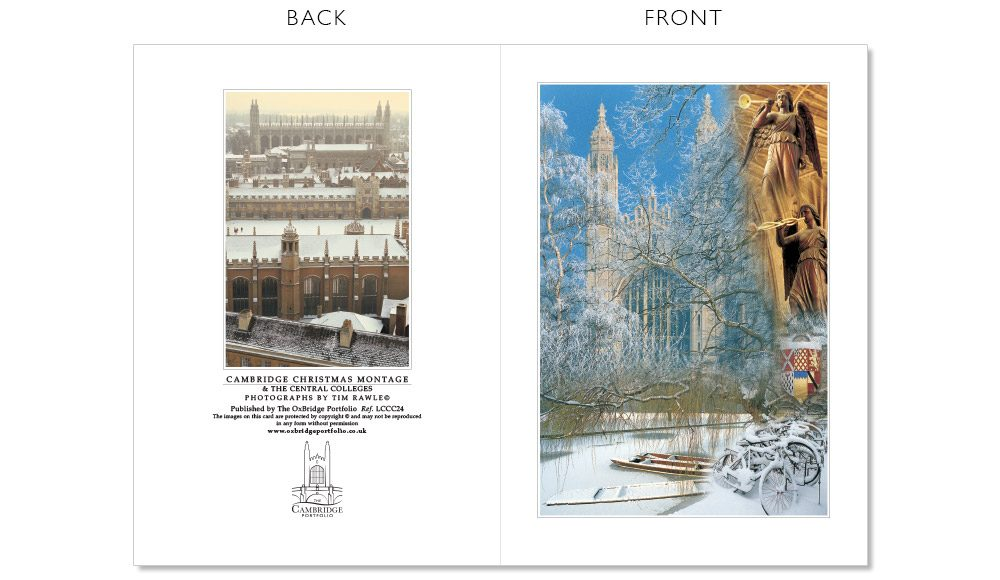 LCCC24 Cambridge Christmas Cards | The Oxbridge Portfolio