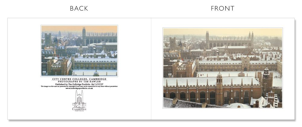 LCCC27 Cambridge Christmas Cards | The Oxbridge Portfolio