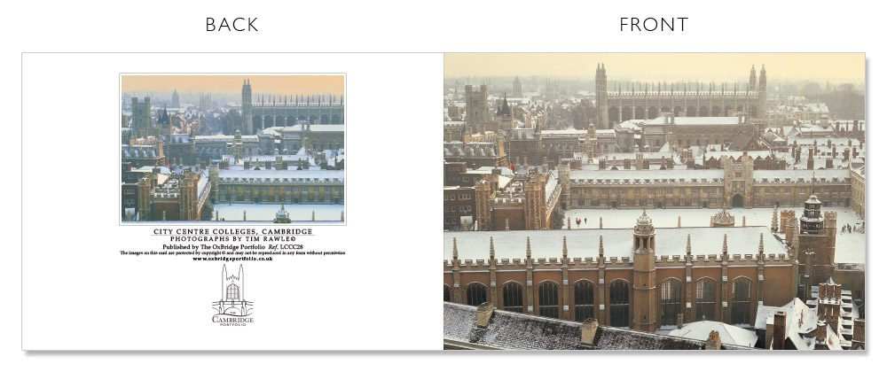 LCCC28 Cambridge Christmas Cards | The Oxbridge Portfolio