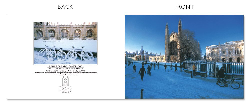 LCCC32 Cambridge Christmas Cards | The Oxbridge Portfolio