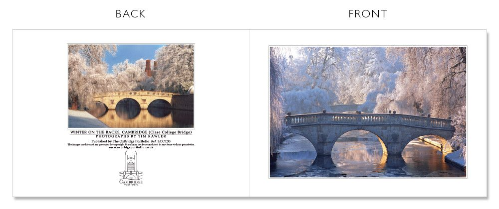 LCCC33 Cambridge Christmas Cards | The Oxbridge Portfolio