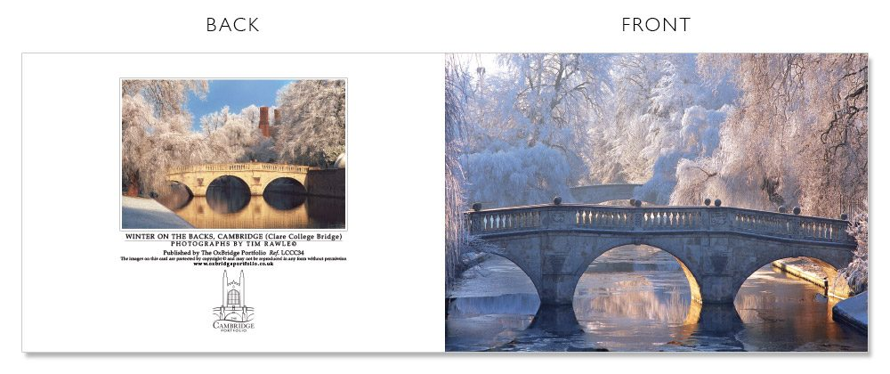 LCCC34 Cambridge Christmas Cards | The Oxbridge Portfolio