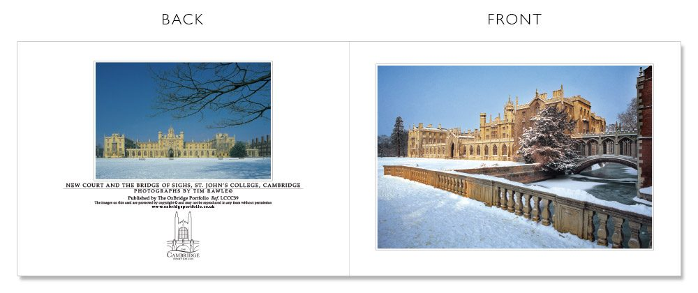 LCCC39 Cambridge Christmas Cards | The Oxbridge Portfolio