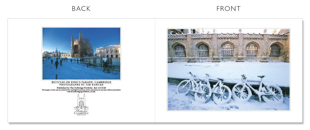 LCCC43 Cambridge Christmas Cards | The Oxbridge Portfolio