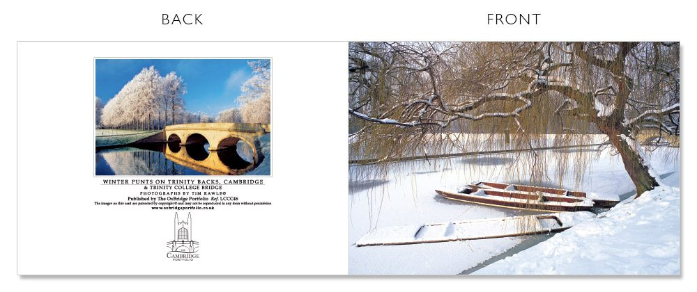 LCCC46 Cambridge Christmas Cards | The Oxbridge Portfolio