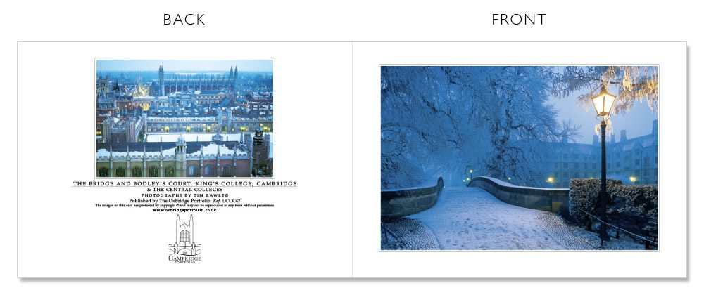 LCCC47 Cambridge Christmas Cards | The Oxbridge Portfolio