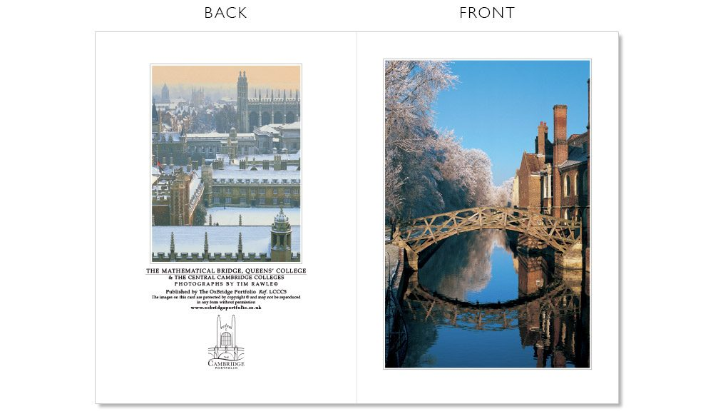 LCCC5 Cambridge Christmas Cards | The Oxbridge Portfolio