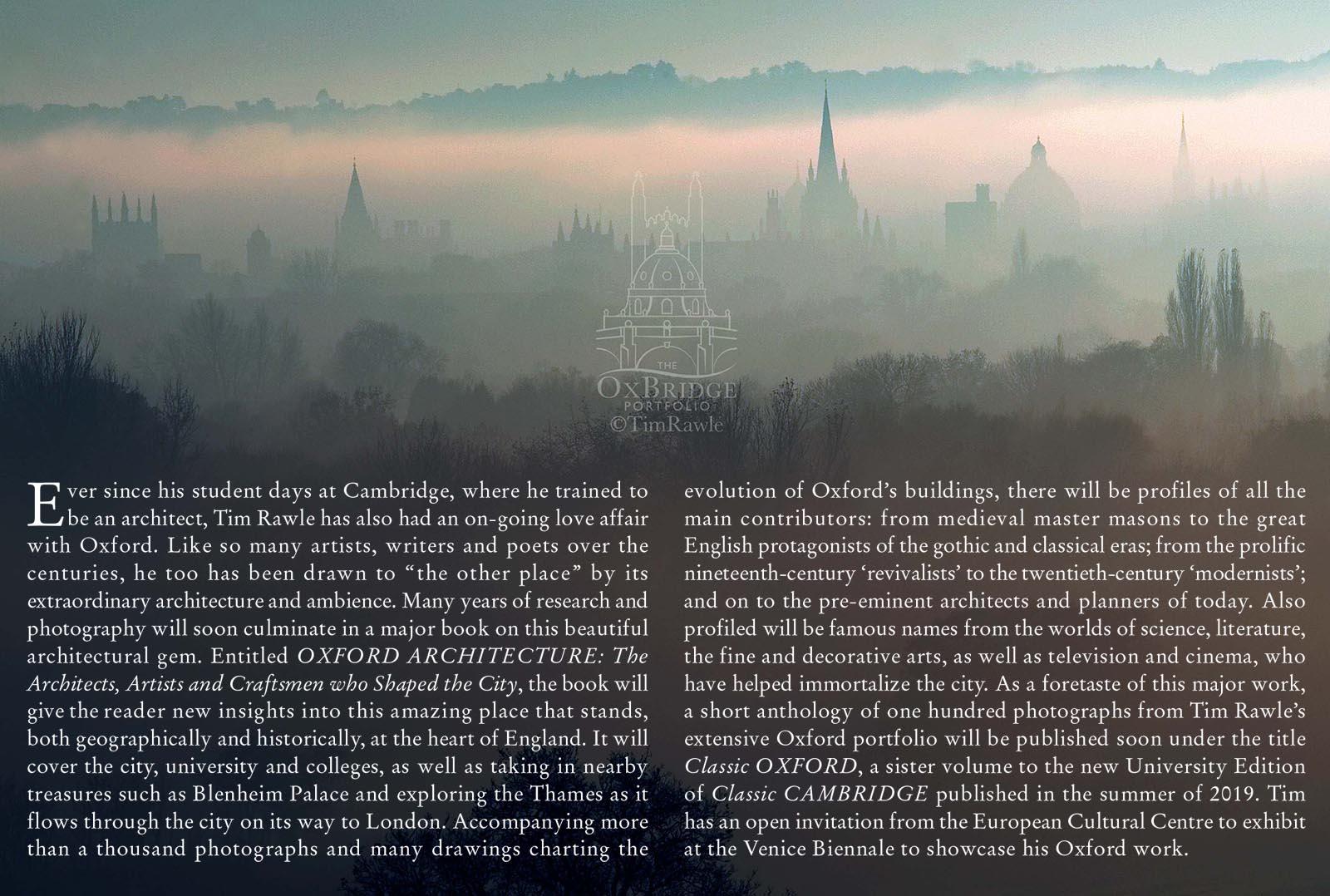 Oxbridge Portfolio Books on Oxford